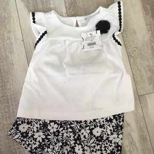 Black and white short set
